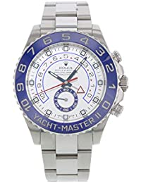 Yacht Master II White Dial Blue Bezel Stainless Steel Automatic Mens Watch 116680WAO