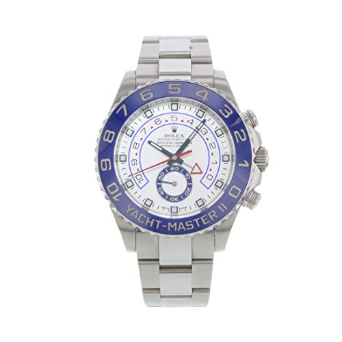 Rolex Yacht Master II White Dial Blue Bezel Stainless Steel Automatic Mens Watch 116680WAO (Rolex Yacht Master Ii Stainless Steel Price)