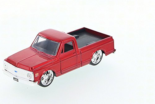 Pickup Cheyenne (1972 Chevy Cheyenne Pickup Truck, Red - Jada Toys Just Trucks 97009 - 1/32 scale Diecast Model Toy Car (Brand New, but NO BOX))
