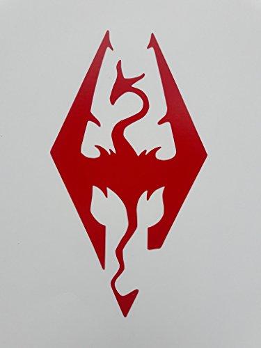 skyrim-logo-dragon-video-game-vinyl-decal-sticker-red-cars-trucks-suvs-laptops-wall-art-55-x-3-cgs22