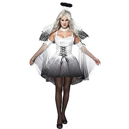 SHENGNONG Disfraz de ángel Oscuro Sexy de Halloween Disfraz de ...