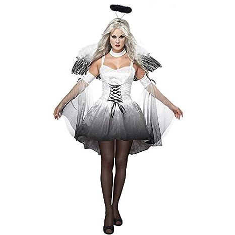 Amazon.com: SHENGNONG Halloween Sexy Dark Angel Costume ...