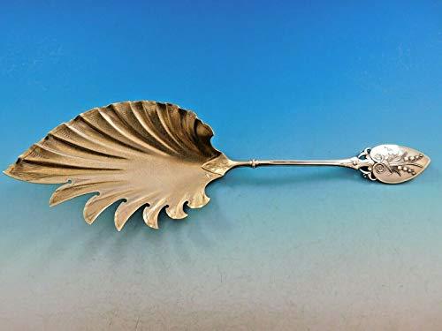 Macaroni Server Gold - Lily aka 88 by Gorham Sterling Silver Macaroni Server Gold Wash Stippled 10 1/2