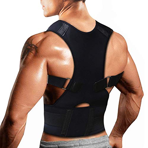IRZVOPSS Back Posture Corrector for Men with Fully Adjustable Straps,Back Brace Men and Women Supports Correct Posture Upper and Lower Back Lumbar,Relieves Upper Back Pain