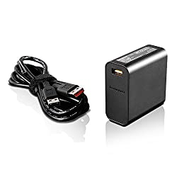 Lenovo 65w Slim Travel Ac Adapter, Black (Gx20k15992)