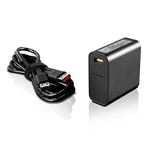 Lenovo 65W Slim Travel AC Adapter, Black (GX20K15992) by Lenovo