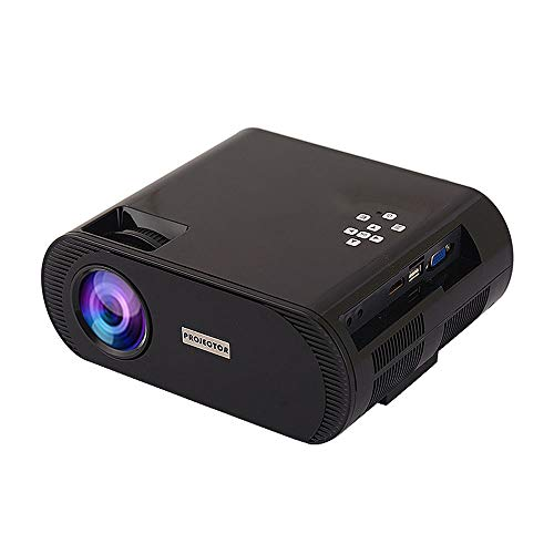 Projector Portable 2800 lumens Eye Protection 130-inch Family Bedroom Business Office Small Wireless HD screenless TV Rich Multi-Device ()