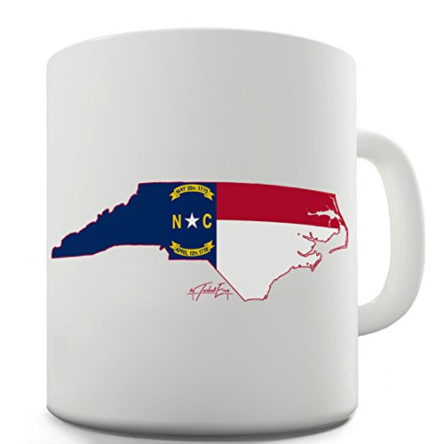 Funny Mugs For Women North Carolina Flag And Seal 50 States US Symbol By Twisted Envy 15 -