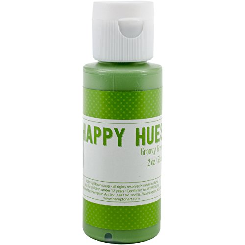 Hampton Art Jillibean Happy Hues Paint Daubers, 2 oz, Groovy Green 2 Ounce Dauber
