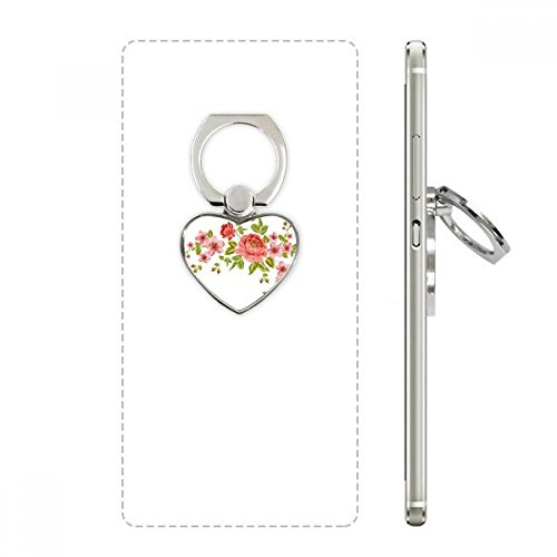 (Red Roses Pattern Flowers Plants Heart Cell Phone Ring Stand Holder Bracket Universal Support)