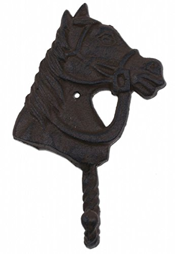 (Import Wholesales Horse Head Western Wall Hook Rust Brown Cast Iron 6.25