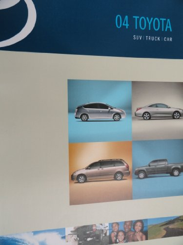 Price comparison product image 2004 Toyota Prius / Solara / Sienna / Tundra / Tacoma / Land Cruiser / Sequoia / 4Runner / Highlander / Rav4 / Avalon / Camry / Corolla / Echo / Matrix / Celica / MR2 Sales Brochure