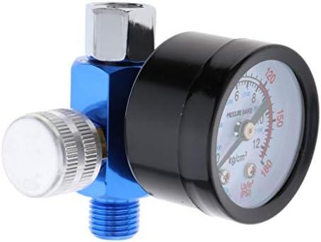ミニ エアーレギュレーター 空気圧レギュレータ 高精度 金属ブラケット付き 圧力計 コントローラー 2色 - 銀, 42mm