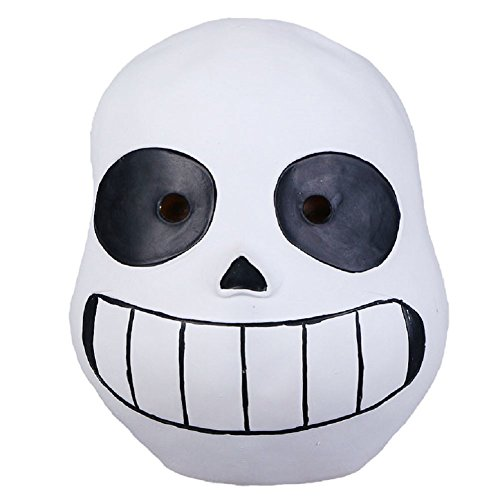 Sans Undertale Costume (Meelanz Deluxe Latex Full Head Hood Masque Halloween Adult and Kid's Accessory (Kid))