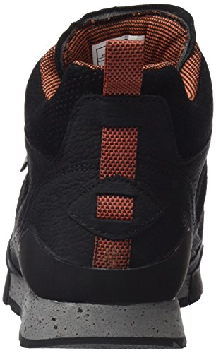 Uomo Nero Burnt Sneaker Mid Merrell Rock Waterproof