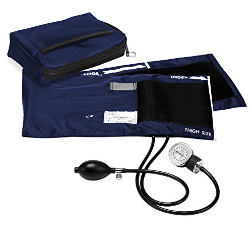 (Prestige Medical Premium Adult Aneroid Sphygmomanometer, Navy, X-Large, 15.00)
