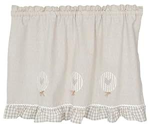 Clayre y fed KT058, 018 cortina cortinas 60 x 90 cm aprox KAMACA natural