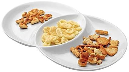 Tognana - Bandeja con 3 secciones para aperitivos (33 x 20 cm), color
