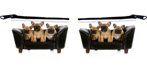 Rikki Knight French Bulldog Litter Design Scuba Foam - Mens Wallets Couch