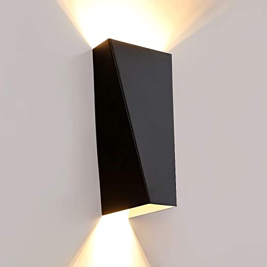 promo code 3f590 54504 Asvert IP65 Wall Lights Modern Up Down Wall Light LED Waterproof 10W Wall  Lamp Black Sconce Uplighters Outdoor and Indoor Lighting for Bath Bedroom  ...