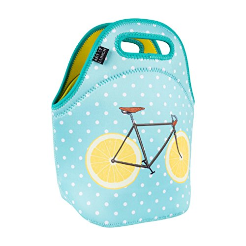 ART OF LUNCH Isulated Neoprene Lunch Bag for Women, Men and Kids, Reusable Soft Lunch Tote for Work and School - Design by Florent Bodart (France) - Zest from Art of Lunch