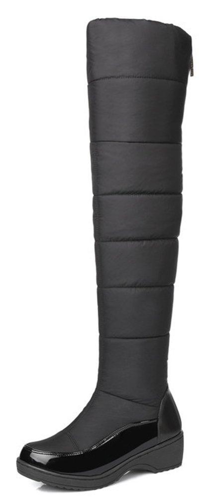 Easemax B073XJ3937 Femme Easemax Confortable Talon Compensé Cuissarde Cuissarde Bottes Noir 3c0fbb5 - conorscully.space