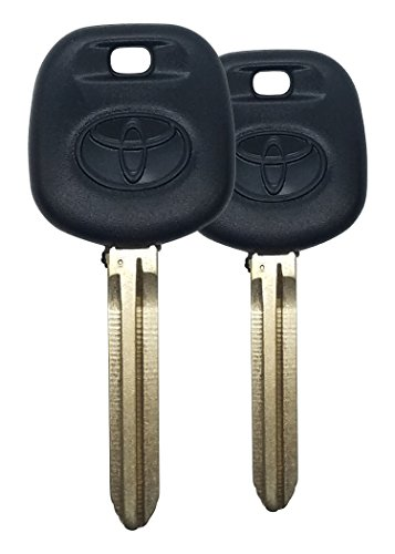 2 NEW TOYOTA REPLACEMENT UNCUT TRANSPONDER 4D CHIP CAR IGNITION KEY - WITH LOGO