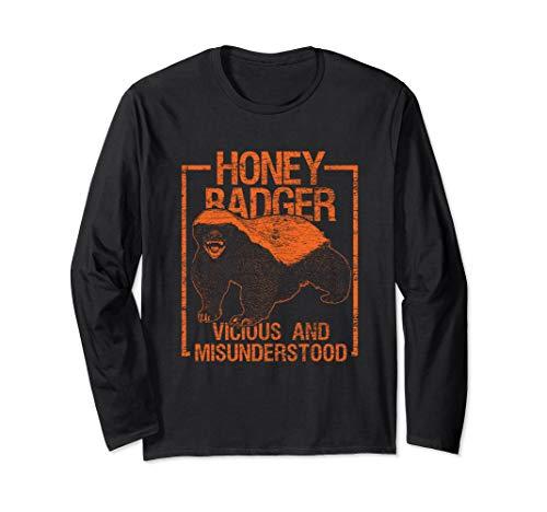 - Vicious And Misunderstood - Honey Badger Long Sleeve T-Shirt