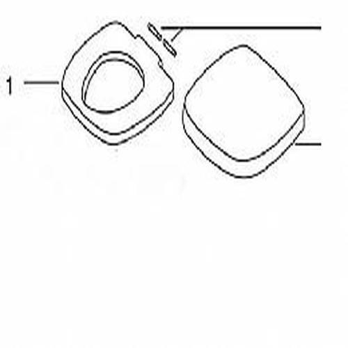 Starlite Cover (Thetford 36769 Seat & Cover for Aurora / Galaxy / Starlite Toilets, Parchment)