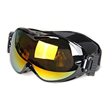 EnzoDate Men Women Snowboard Goggles,UV400 Skiing Goggles, Double Layers Lenses Anti-fog Wear Over RX Glasses