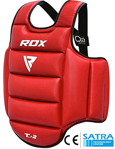 - RDX TKD Chest Guard Boxing MMA Body Protector Martial Arts WTF Reversible Rib Shield Armour Taekwondo Target Training Kickboxing