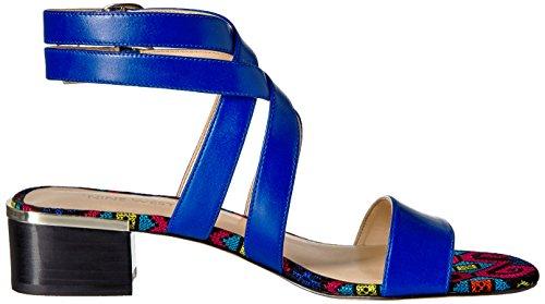 cuir Sandale en cuir Yesta pour en femme bleu 8fgfqU