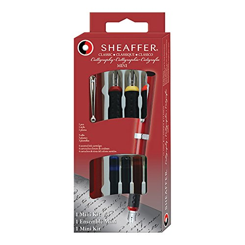 Mini Classic Pen (Sheaffer Calligraphy Mini Kit, 1 Viewpoint Pen with 3 Interchangeable Nib Grades (73403))