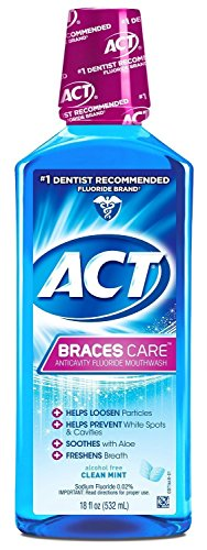 ACT Braces Ant Cavity Fluoride Mouthwash