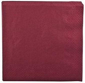 20 Serviettes en papier Bordeaux 33 x 33 cm