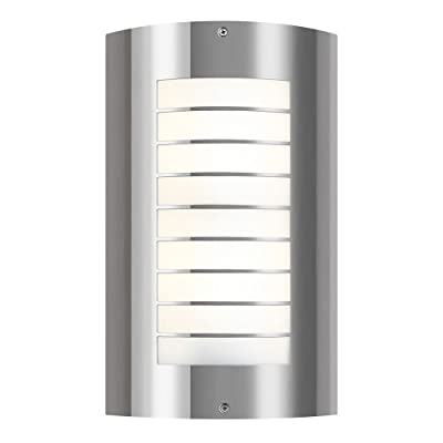 Kichler Lighting 6048PSS316 Newport 2LT 15IN Exterior Wall Mount, Polished Stainless Steel Finish with White Acrylic Diffuser