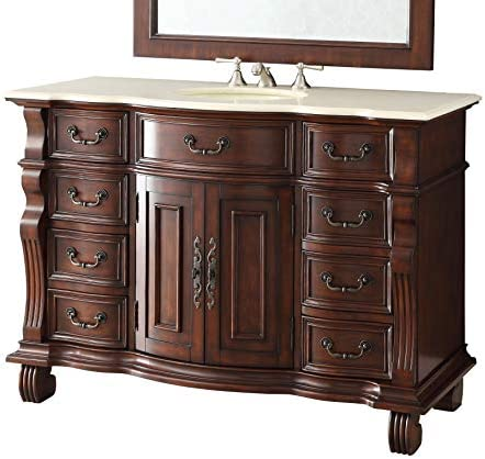 50″ Finest Workmanship and Details Large Single Basin Hopkinton Bathroom Sink Vanity Model GD-4437M-50