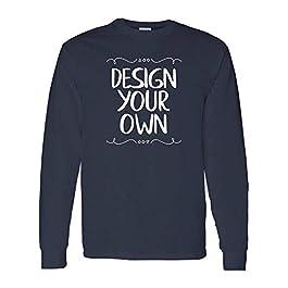 Gildan Heavy Cotton 100% Cotton Long Sleeve T-Shirt, Custom Design Your Own