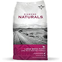 Diamond Naturals Large Breed Puppy Real Meat Recipe Natural Dry Dog Food with Real Pasture Raised Lamb 40lb
