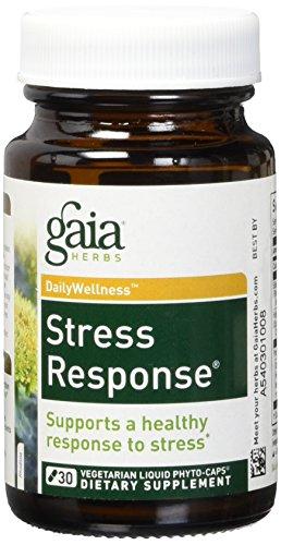 Gaia Herbs Stress Response Formula Liquid Caps, 30 ct (Supplement Liquid Stress)