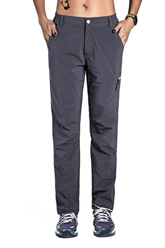 Unitop Womens Breathable Soft Quick Dry Hiking Pants Gray XXL 32 Inseam