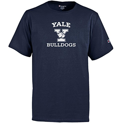 (Champion NCAA Youth Boys Shirt 100% Cotton Tagless Tee, Yale Bulldogs, Large)