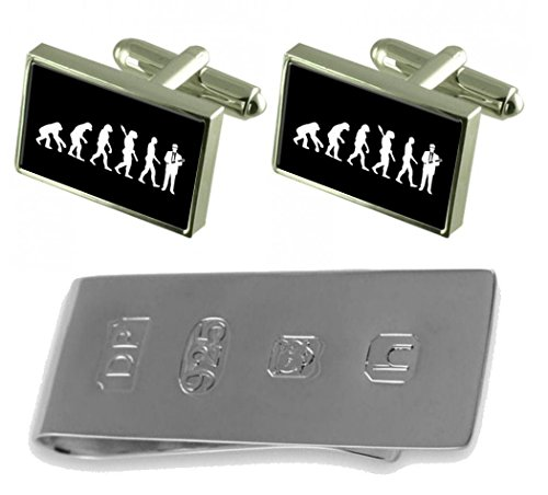 Money Evolution Cufflinks Clip to Ape James Bond Engineer Man amp; rCC8xIHwq
