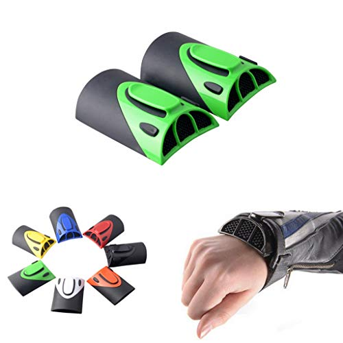 Goldfire 1 Pair Universal Cooling Arm Sleeves Accessories Motorcycle Cooling System Jacket Sleeve Vent for Summer Warm Weather (Green) (Best Motorcycle Gear For Hot Weather)