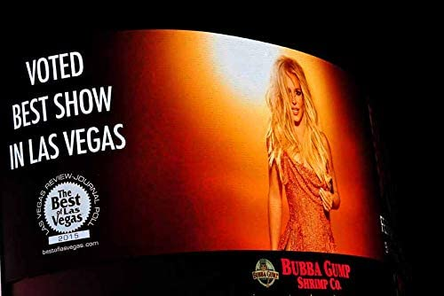 Amazon Com Britney Spears Photograph A Photographic Print Of Britney Spears Neon Show Poster Planet Hollywood Las Vegas Usa Landscape Photo Color Picture Fine Art Print Or Poster Photography Gift 24 X 16