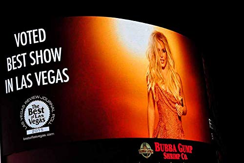 Britney Spears photograph a photographic print of Britney Spears neon show poster Planet Hollywood Las Vegas USA landscape photo color picture fine art print or poster photography gift (24