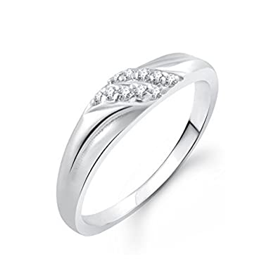 austrian cut adjustable heart women for rings karatcart elegant trendy price platinum ring dp crystal buy plated