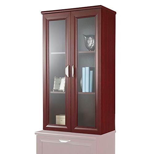 (Realspace Magellan Collection 2-Shelf Hutch with Doors, Classic Cherry)