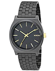 Nixon Men's NXA0451041 Ion-Plated Black Dial Watch