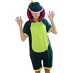 Tonwhar verano Cartoon Animal Pijamas de Una Sola Pieza pijamas de Cosplay disfraz adulto, Dinosaur